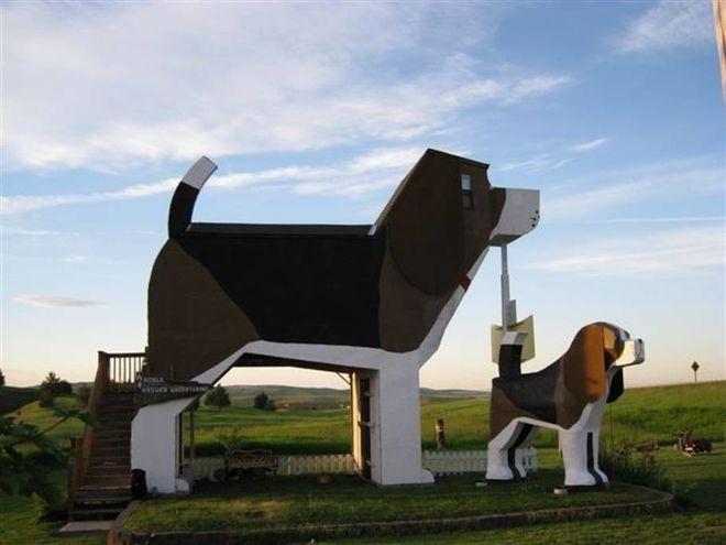 В США появилась необычная гостиница в виде собаки