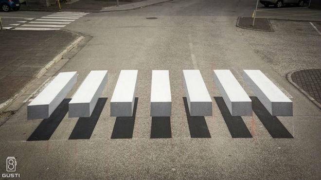 На дорогах Исландии появилась 3D-зебра: она не дает водителям убивать пешеходов