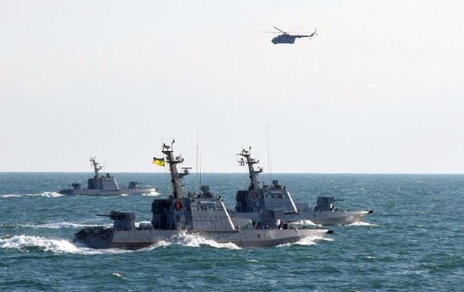В Черном море прошли учения ВМС