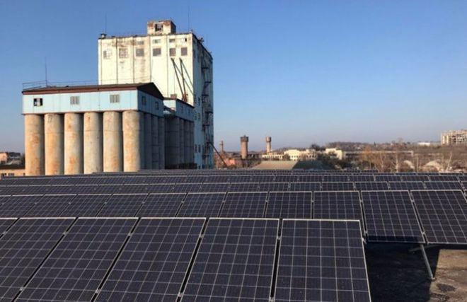 Элеватор Госрезерва перевели на солнечную энергию