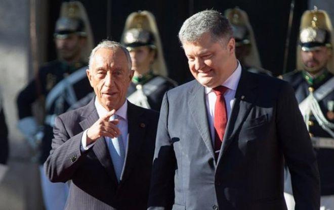 Порошенко сообщил об укреплении торгово-экономического сотрудничества с Португалией