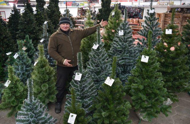 Доставят, поднимут и установят: продавцы новогодних елок в Киеве осваивают европейский сервис
