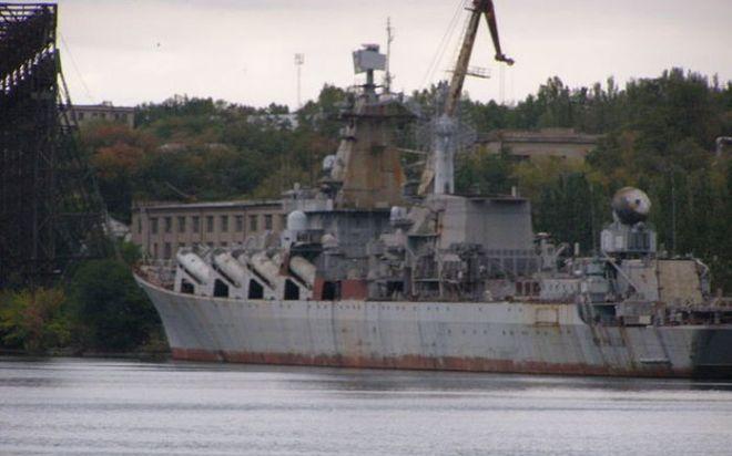 ВМС Украины заявили оненужности достройки ракетного крейсера «Украина», который почти готов
