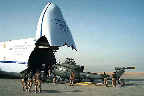 Антонов перевозит груз для SpaceX