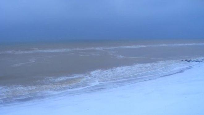 Как выглядит Азовское море зимой