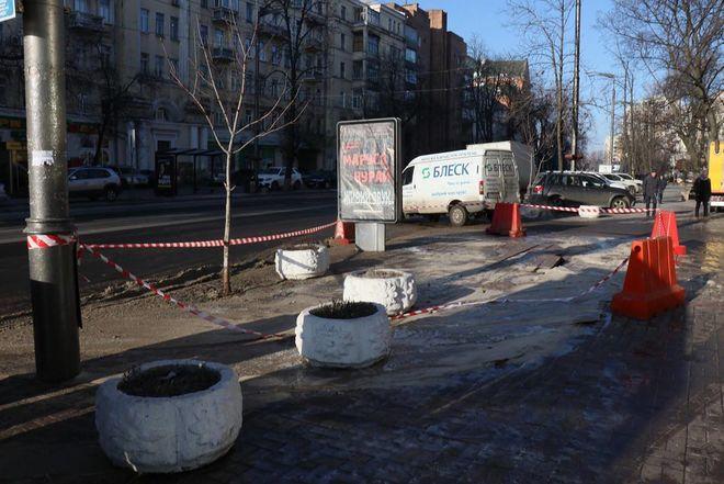 Центр Киева заливало холодной водой - первые фото