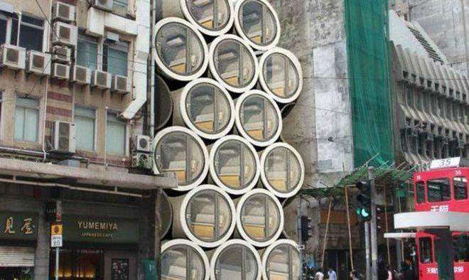 Жители Гонконга селятся в огромных бетонных трубах