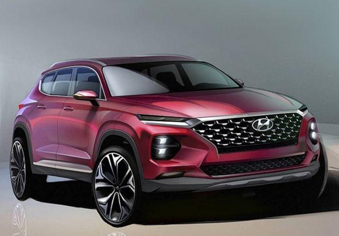 Hyundai показала фото нового Santa Fe