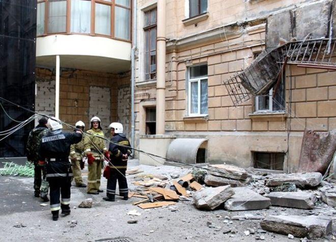 В центре Одессы обвалились балконы
