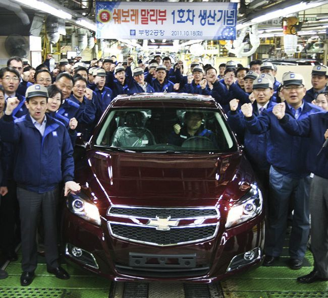 General Motors закроет завод в Южной Корее