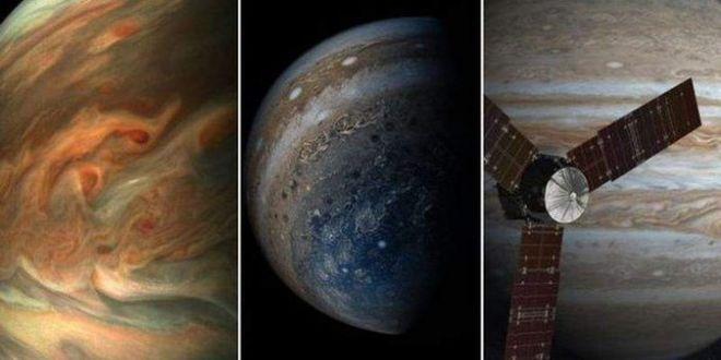 NASA показало завораживающие снимки Юпитера
