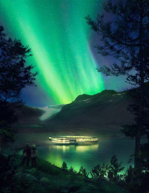 За полярным кругом возле ледника появится отель на солнечных батареях
