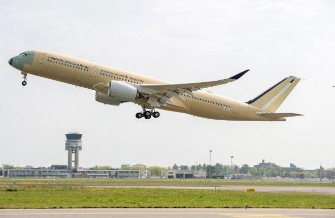 Airbus испытывает самолет для утрабольшой дальности полетов