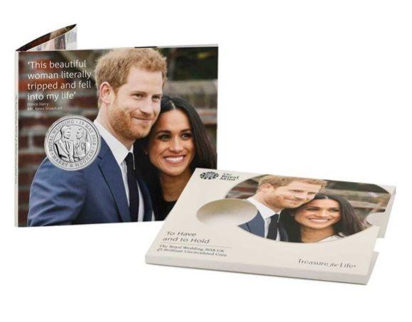 В Британии выпустили монеты в честь свадьбы принца Гарри с Меган Маркл
