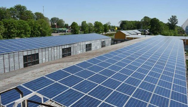Во Львовской области открыли мощную солнечную электростанцию на крыше