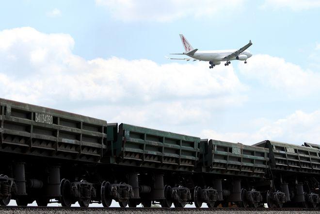 Стройка века: появились фотографии строительства железнодорожного сообщения Киев - аэропорт «Борисполь»