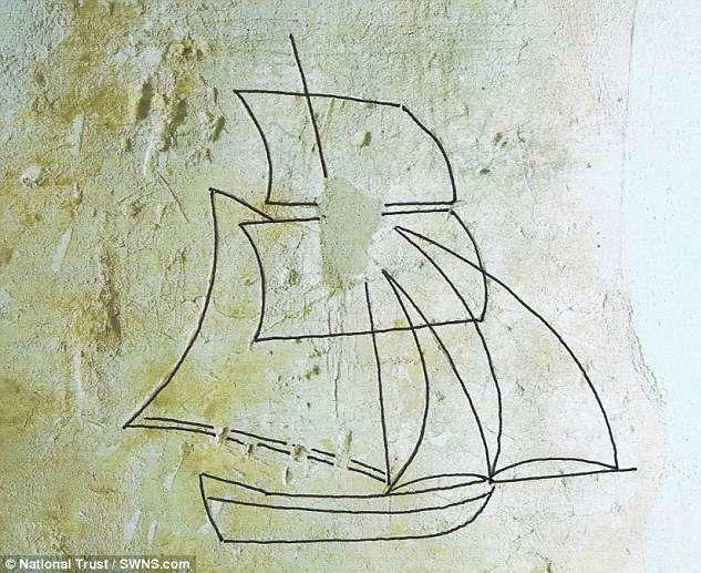В английском замке нашли 250-летние граффити