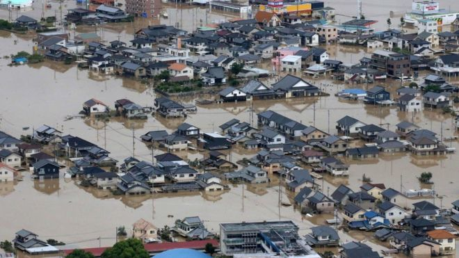 Количество жертв наводнения в Японии увеличилось до 179 человек
