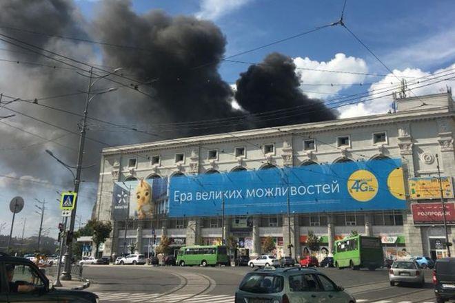 В Харькове горела академия
