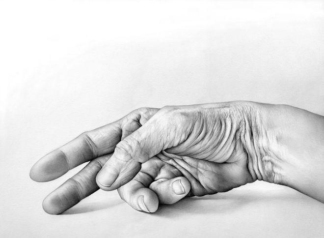 Американская художница нарисовала, как тело реагирует на прикосновения